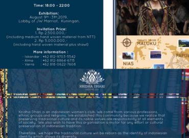 Charity Fashion Show for weaving craftsmen from NTT and Flores Coffee Sale